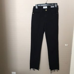 High waisted crop jeans